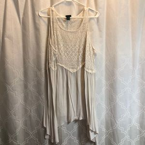 Rue21 White fit and flare blouse